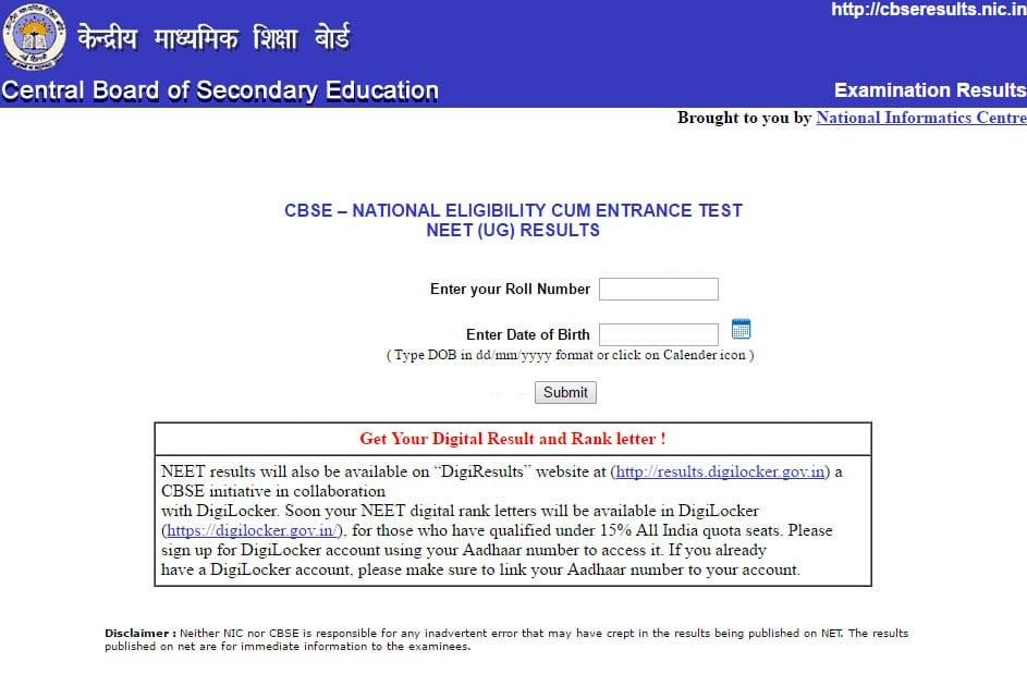 rank letter of neet