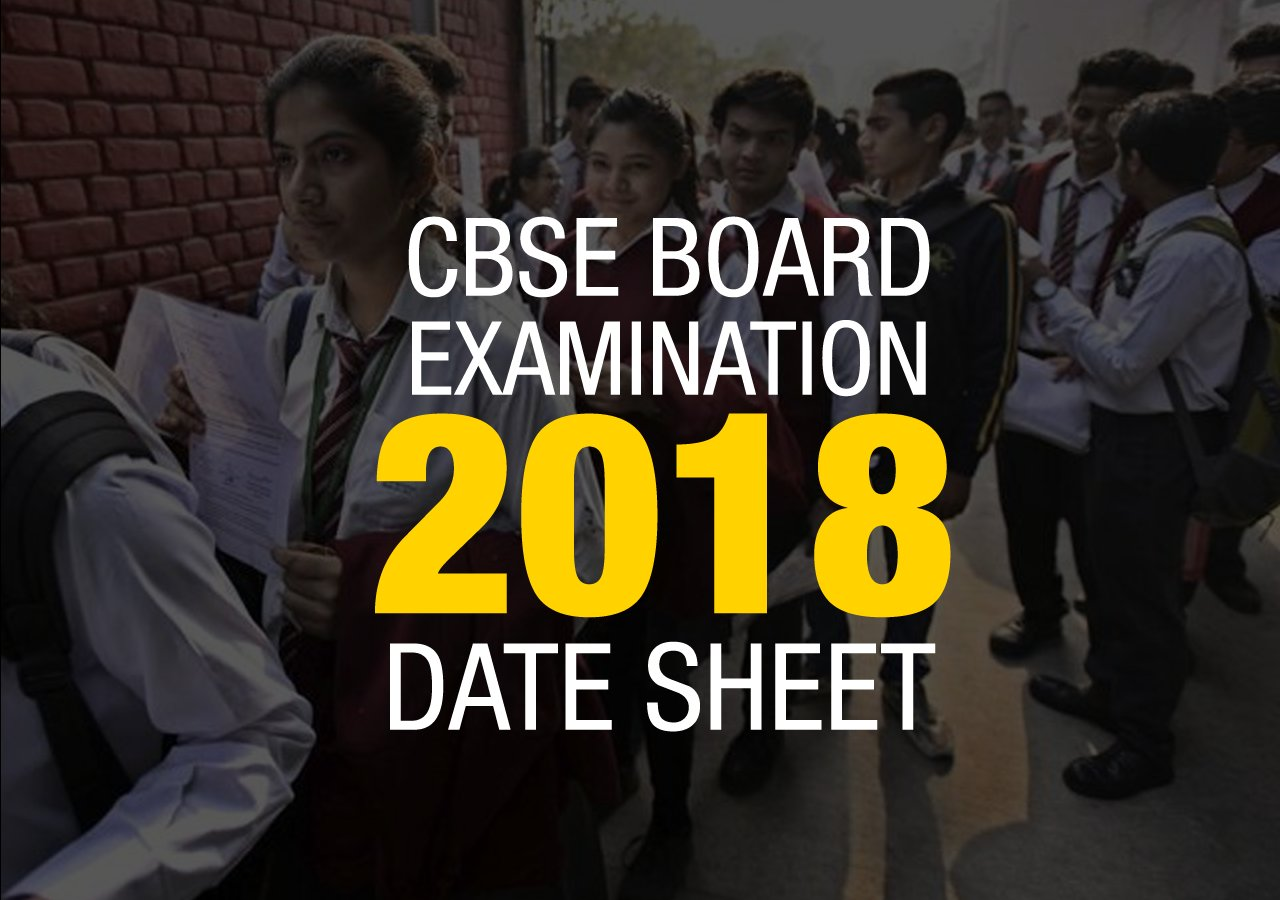 CBSE DATESHEET 2018