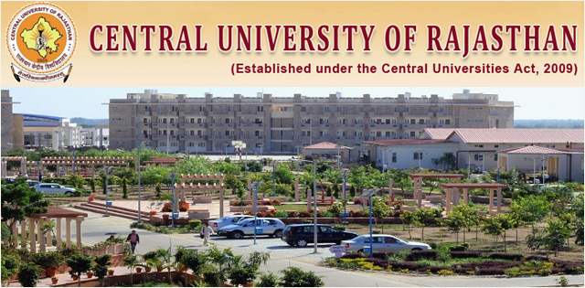 Central University of Rajasthan – [CURAJ] Ajmer Admissions 2019: Courses, Merit List, Review