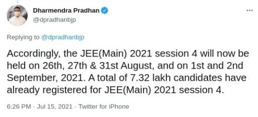 JEE Main 2021 Phase 4 Postponed | Edulekha